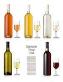 ställ in wine Arkivfoton
