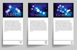Ställ in zodiak Fotografering för Bildbyråer
