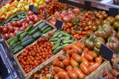 Ställa ut grönsaker Arkivbild