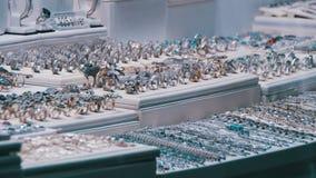 Ställa ut lagerjuveleraren Ornaments arkivfilmer