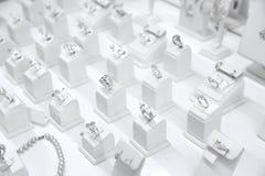 Ställa ut med smycken royaltyfria bilder