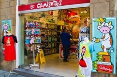 Ställa ut souvenir shoppar Arkivbild