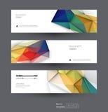 Ställde abstrakta baner in för vektor med polygonal, geometriskt, triangelmodellform Fotografering för Bildbyråer