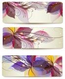 Ställde färgrika bakgrunder in för abstrakt vektor för desi för affärskort Arkivfoton