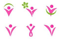 ställde fit symboler in för abstrakt begrepp kvinnan royaltyfri illustrationer
