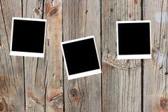 ställde gammala polaroids in för mellanrumsramar tre Royaltyfri Fotografi