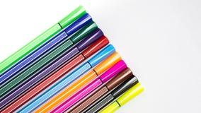 ställde isolerade pennor in för bakgrundsfärgillustration vektorn vit Fotografering för Bildbyråer