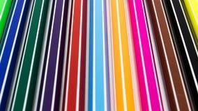 ställde isolerade pennor in för bakgrundsfärgillustration vektorn vit Arkivbilder