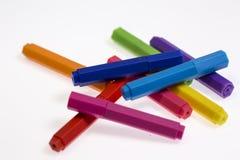 ställde isolerade pennor in för bakgrundsfärgillustration vektorn vit Royaltyfri Fotografi