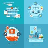 Ställde medicinska och vård- symboler in för vektor för rengöringsdukdesignen, mobila apps Arkivfoton