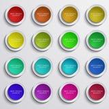 Ställde moderna färgrika cirkelbaner in för vektor på grå färger vektor illustrationer
