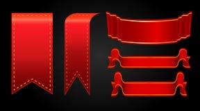 ställde röda band in för illustration vektorn Royaltyfri Bild