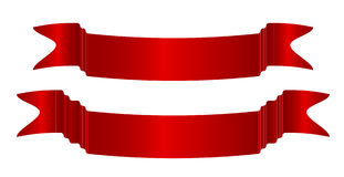ställde röda band in för illustration vektorn Royaltyfri Fotografi