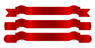 ställde röda band in för illustration vektorn Arkivbilder