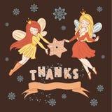 Ställde vektorn in för glad jul för TACKSÄGELSEN för tryck royaltyfri illustrationer