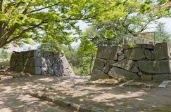 Ställe av den tidigare porten av den Marioka slotten, Marioka stad, Japan Royaltyfria Foton