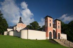 Ställe av pilgrimsfärden i Jaromerice u Jevicka Arkivbilder