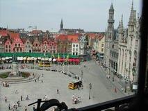 Ställe de Bruges från Belfort Royaltyfri Fotografi
