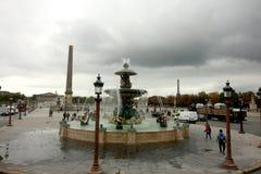 Ställe de la Concorde, Paris Frankrike royaltyfria bilder