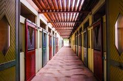 Ställe des Rahmens Noir in Saumur Stockfoto