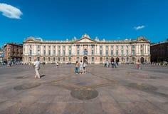 Ställe du Capitole i Toulouse, Frankrike Arkivfoto