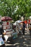 Ställe du Tertre Monmartre, Paris Frankrike Fotografering för Bildbyråer