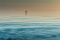 Ställe för att fiska på Dnieperen royaltyfri bild