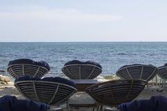 Ställe för att koppla av på stranden Royaltyfria Bilder
