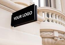 Ställe för ditt logotecken Royaltyfri Fotografi