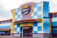 Ställe för galleri för pizza för John ` s oerhört under dag arkivbild
