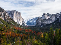 Ställe för turist- dragning i Yosemite Arkivbild