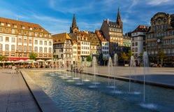 Ställe Kleber i Strasbourg - Frankrike Arkivbilder