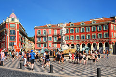 Ställe Massena i Nice, Frankrike Fotografering för Bildbyråer