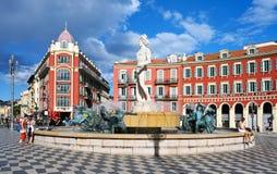 Ställe Massena i Nice, Frankrike arkivbilder