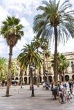 Ställe Royale i Barcelona, Spanien Arkivbilder