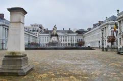 Ställedes spelar martyr martyr`-fyrkanten, Bryssel, Belgien Royaltyfri Bild