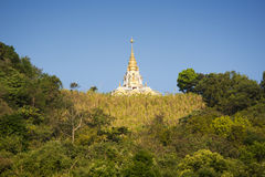 Ställen av pagoden för dyrkanBuddhareliker Arkivfoto