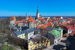 Ställen med sikter av Tallinn arkivfoto