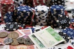 Stället av en pokerspelare Fotografering för Bildbyråer
