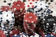 Stället av en pokerspelare Arkivfoton