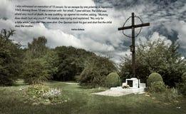 Stället av massgraven i den tidigare tyska koncentrationsläger Plaszow, Polen royaltyfria foton