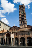 Stället var är lokaliserade Bocca Della Verita i Rome, Italien Arkivfoton