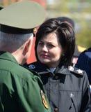 Ställföreträdande Minister av försvar från den ryska federationen Tatyana Shevtsova Arkivbild