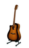 Ställning för akustisk gitarr royaltyfria bilder