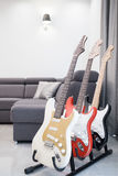 Ställning för gitarrer Royaltyfria Foton