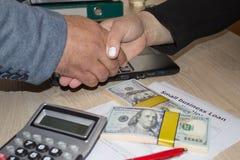 Ställning för kreditering för små och medelstora företaglån Lånsmå och medelstora företag från regering Arkivbilder