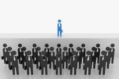 ställning för man för affär 3D över folkmassan på etapp Royaltyfri Bild
