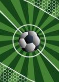 ställning för match för fotbollportmål till Royaltyfri Bild