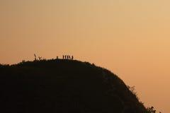 Ställning på det bästa berget Arkivfoto