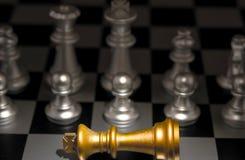 Ställning ut ur ett folkmassaegenartbegrepp Odd Chess Arkivbilder